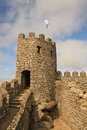 Castle of the moors sintra lisbon portugal Royalty Free Stock Images