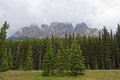 Castle mountain banff alberta canada in national park Stock Photography