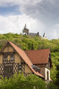 Castle on the mountain at wernigerode in harz germany shot taken from wernigerorde city Stock Image