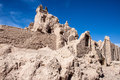 The castle of narenj in desert town naein in iran Royalty Free Stock Images