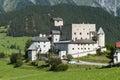 Castle naudersberg austria in nauders in summer Royalty Free Stock Photos