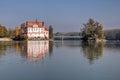 Castle neuhaus am inn germany morning scenery of schloss nowdays a school Stock Photos