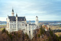 Castle in old style neuschwanstein panorama bavaria germany Stock Images