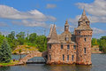 Castle in One Thousand Islands Royalty Free Stock Photo
