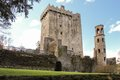 Castle originally dates top castle lies stone eloquence better known as blarney stone tourists kiss stone which said to give gift Stock Photo