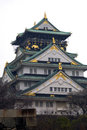 Castle osaka japan in the heart of Stock Photography