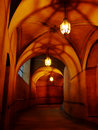 Castle passageway Royalty Free Stock Images