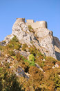 The Castle of Peyrepertuse Royalty Free Stock Photography