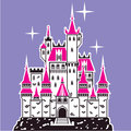 Castle pink tops illustration clip art vector Stock Image