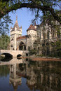 Castle pond with in the budapest city park hungary Stock Images