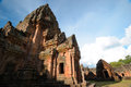 Castle rock prasat phanom rung rocks in the north east of thailand Stock Photo