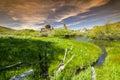 Castle Rocks Idaho blue sky and stream Royalty Free Stock Photography