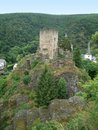 Castle ruin near esch sur sure in front of a city named in luxembourg at summer time Royalty Free Stock Photography