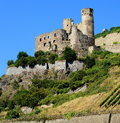 Castle Ruin on River Rhine Royalty Free Stock Photo
