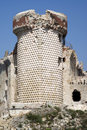 Castle ruin ruins of the gavone th century liguria region italy Stock Photo
