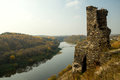 Castle ruins on a hill Royalty Free Stock Photo