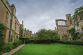 Castle ruins view of medieval in grounds at sudeley Stock Photos