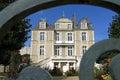 Castle sainte gemmes sur loire loire valley france region pays de la danjou department maine et village former Royalty Free Stock Images
