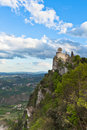 Castle san marino â la cestaâ orâ fratta â seconda torre â second tower Royalty Free Stock Photo
