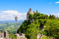 Castle of san marino italy castello della cesta fortress in republic Royalty Free Stock Photography