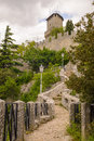 Castle of san marino italy rocca della guaita fortress in republic Royalty Free Stock Photo
