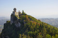 Castle of san marino view on the on the cliff Stock Images
