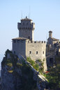 Castle of san marino view on the on the cliff Royalty Free Stock Image