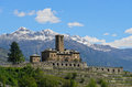 Castle of sarre in aosta valley italy Royalty Free Stock Photos
