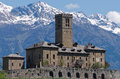 Castle of sarre in aosta valley italy Stock Image
