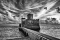 the castle on the sea Royalty Free Stock Photo