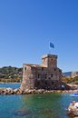 Castle on the sea castello sul mare italy circa national monument of rapallo province of genoa liguria Stock Photo
