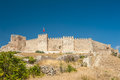 Castle at selcuk ancient roman on ayasoluk hill turkey Royalty Free Stock Image
