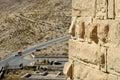 Castle Shobak wall. Royalty Free Stock Photo