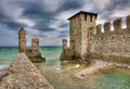 Castle of Sirmione, Italy. Royalty Free Stock Photo