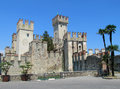 Castle Sirmione in north Italy Royalty Free Stock Photo