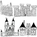 Castle sketches Royalty Free Stock Photos