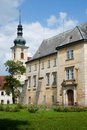 Castle smirice czech republic and chapel of the epiphany in town eastern bohemia Stock Photography