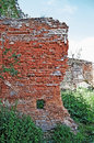 Castle in stare selo the old wall of red brick an old the close to the lvov city ukraine built th century Stock Images