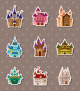 Castle stickers Stock Image