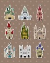 Castle stickers Royalty Free Stock Images