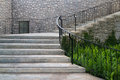 Castle style concrete curve stairways Royalty Free Stock Photo