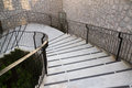 Castle style concrete stairways with handrail Royalty Free Stock Photo