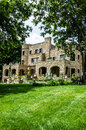 Castle style stone old home / mansion Royalty Free Stock Photo