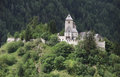 Castle in sunny ambiance idyllic the alps between austria and italy Royalty Free Stock Photo