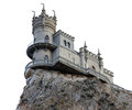 Castle swallow s nest near yalta isolated on white background Stock Photography