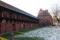 Castle of the Teutonic Order in Malbork Stock Photo