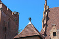 The castle of the teutonic order in malbork poland marienburg is largest world by surface area and largest brick Stock Images