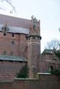 Castle of the teutonic order in malbork polish Royalty Free Stock Image