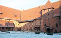Castle of the teutonic order in malbork polish Stock Photography