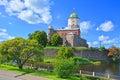 Castle and 30th Gvardeysky Korpus Embankment in Vyborg, Russia